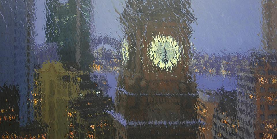"""17:57"" 130 x 260cm Oil on Canvas"