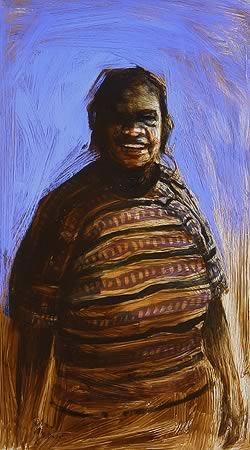 """Bardi Woman"" 106 x 60cm Oil on Board"