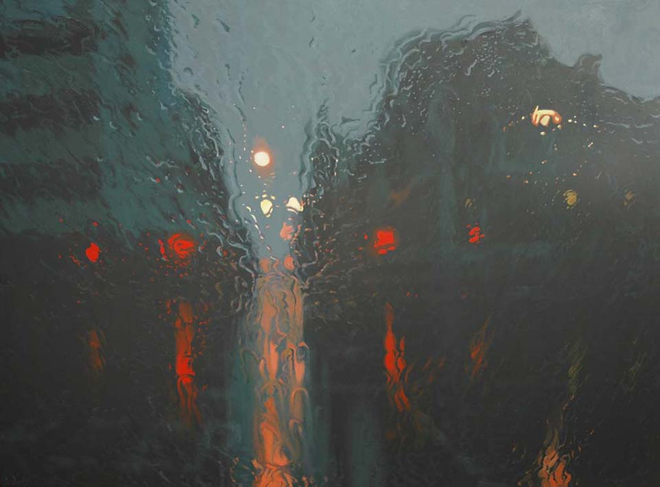 Barrack Street Falls 110 x 150cm Oil on Canvas