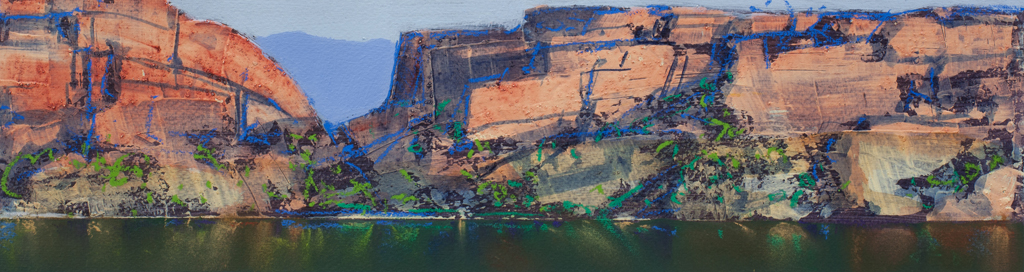 """Berkeley River Study 1"" 12 x 47cm Mixed Media on Paper"