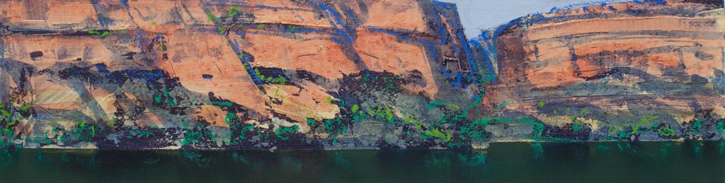 """Berkeley River Study 11"" 12 x 47cm Mixed Media on Paper"