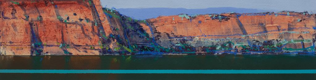 """Berkeley River Study 4"" 12 x 47cm Mixed Media on Paper"