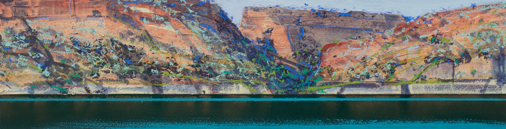 """Berkeley River Study 8"" 12 x 47cm Mixed Media on Paper"