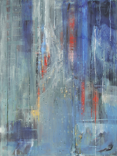 """""""Broadway"""" 122 x 91cm Oil and Wax on Canvas"""