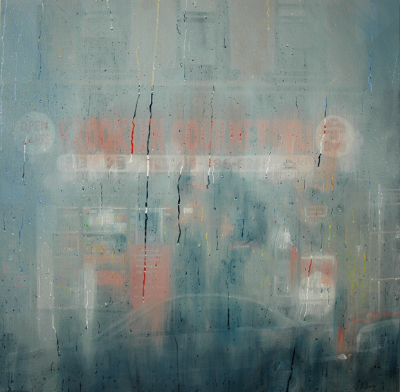 """""""Brooklyn Gourmet Deli"""" 110 x 110cm Oil on Acrylic on Linen"""