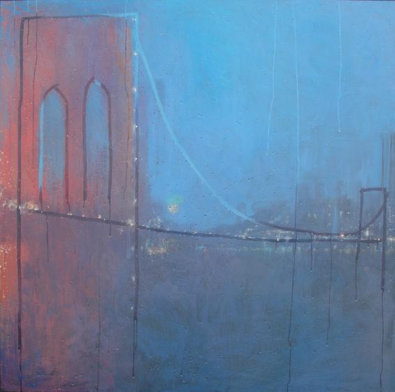 """Brooklyn Bridge"" 150 x 150cm Oil and Wax on Canvas"