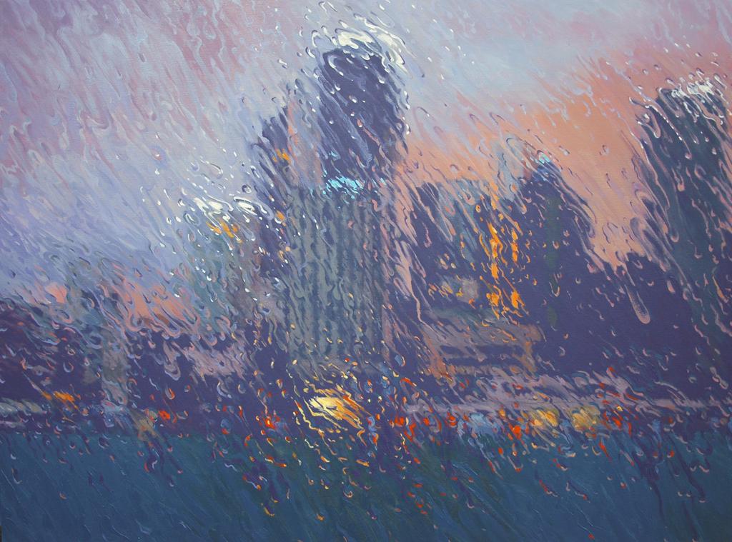 """Circular Quay"" 110 x 150cm Oil on Canvas"