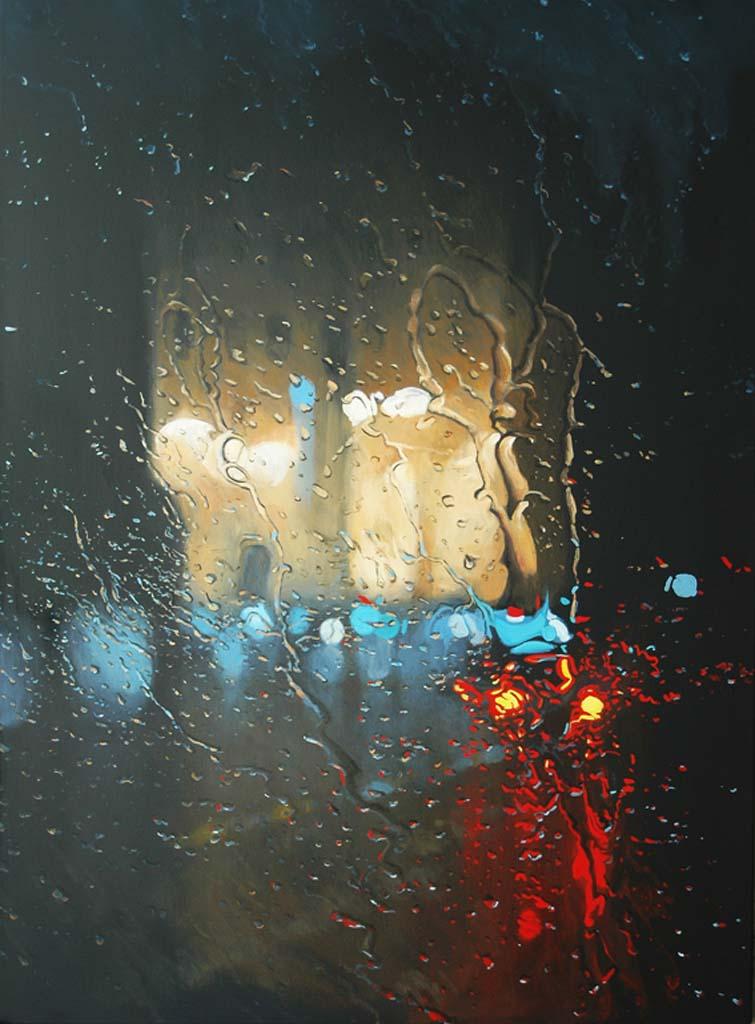 """City Monument (Gledden Building)"" 150 x 110cm Oil on Canvas"