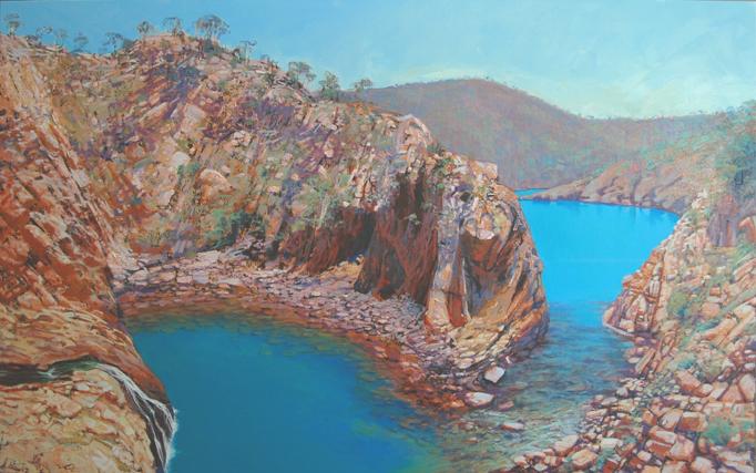 """""""Crocodile Creek"""" 130 x 210cm Oil on Acrylic on Canvas"""