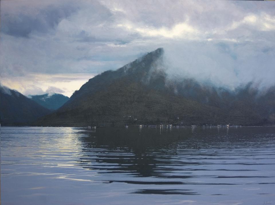 """Evening Cover"" 110 x 150cm Oil on Acrylic on Canvas"