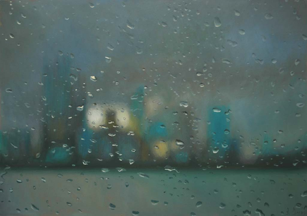 """""""From South Perth"""" 47 x 67cm Oil on Paper"""