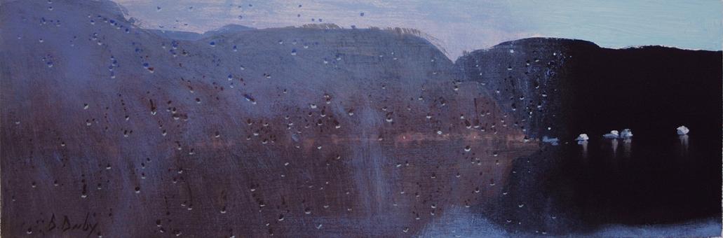 """Hawkesbury Winter Panel 2"" 15 x 45cm Acrylic on Paper"