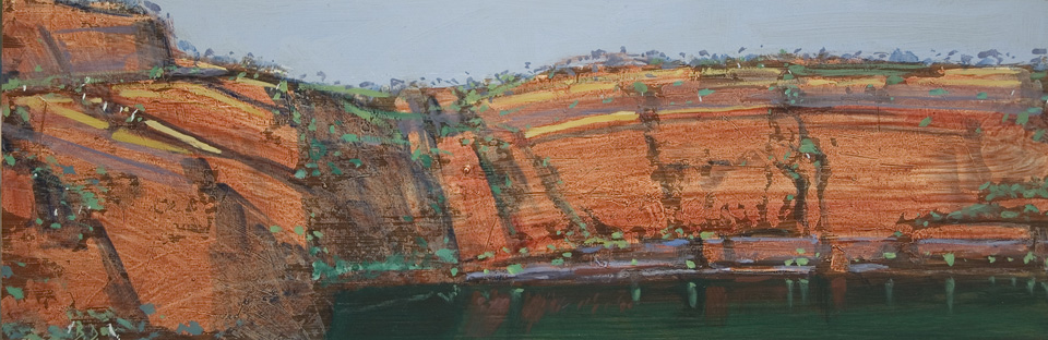 """Karijini 14 - Panel 3"" 20 x 61cm Oil on Acrylic on Board"