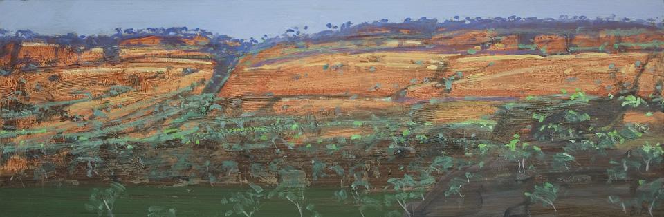 """Karijini 14 - Panel 5"" 20 x 61cm Oil on Acrylic on Board"