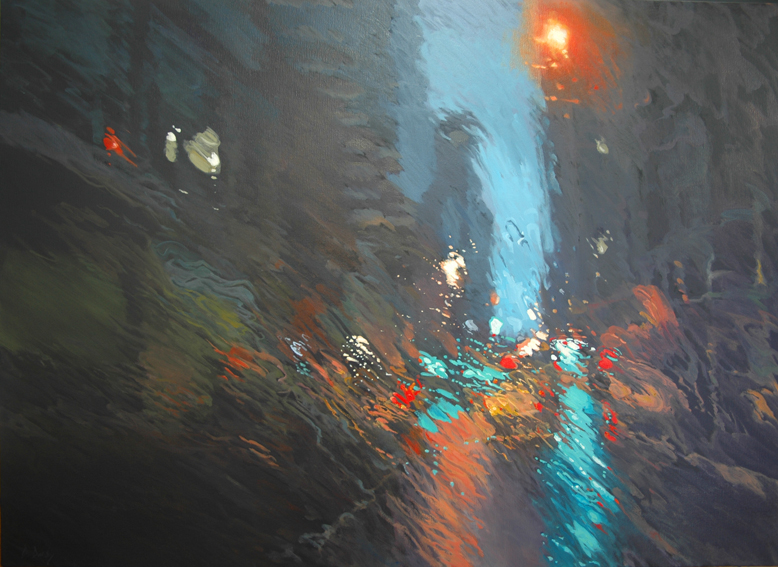 """Night Trip to Sydney 1"" 110 x 150cm Oil on Canvas"
