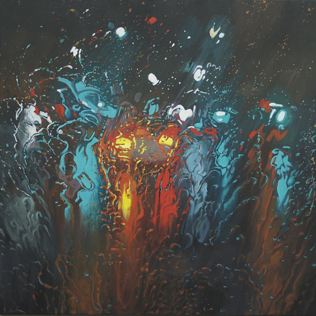 """Liquid Light 1"" 100 x 100cm Oil on Canvas"