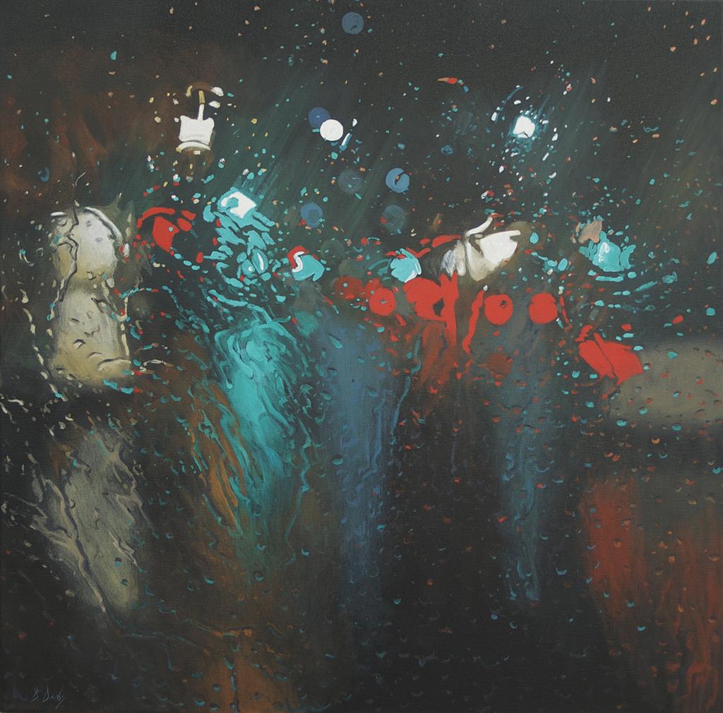 """Liquid Light 2"" 100 x 100cm Oil on Canvas"