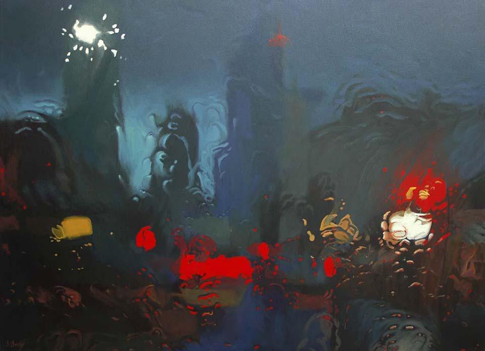 """Melting City"" 110 x 150cm Oil on Canvas"