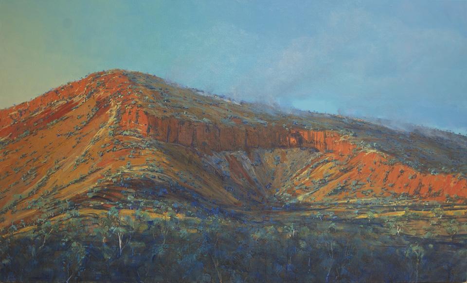 """""""Morning Fire"""" 102 x 165cm Oil on Acrylic on Canvas"""