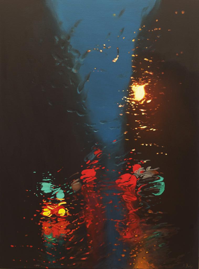 """Night Trip to Sydney 2"" 150 x 110cm Oil on Canvas"