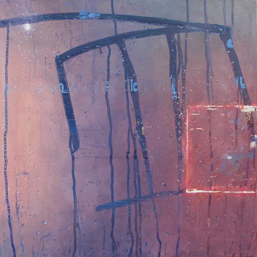 """""""Night Trip Brooklyn"""" 120 x 120cm Oil on Canvas"""