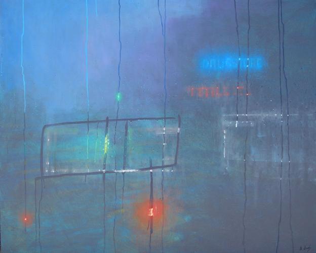 """Night Trip to Brooklyn 2"" 122 x 152cm Oil on Acrylic on Linen"