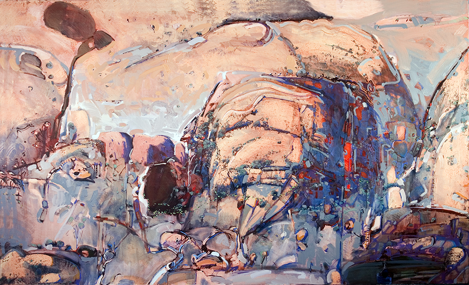 """""""The Red Centre"""" 185 x 300cm Oil on Acrylic on Canvas"""