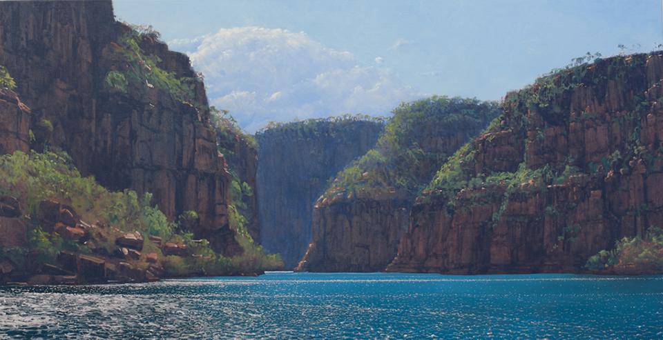 """Retreating Storm"" 95 x 165cm Oil on Acrylic on Canvas"
