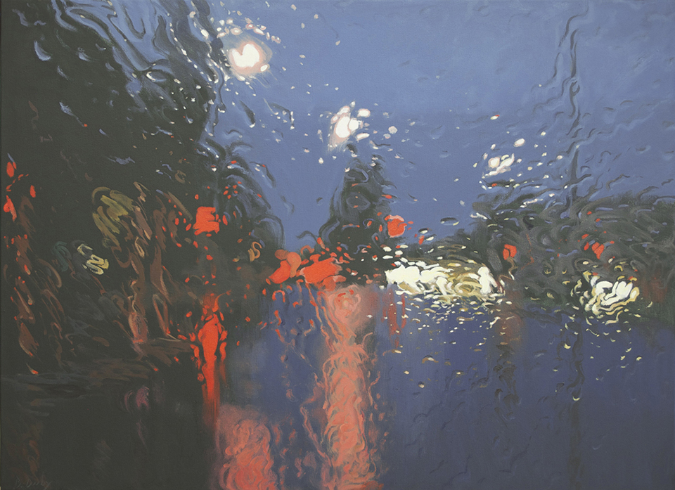 """Scattered Lights 1"" 80 x 110cm Oil on Canvas"