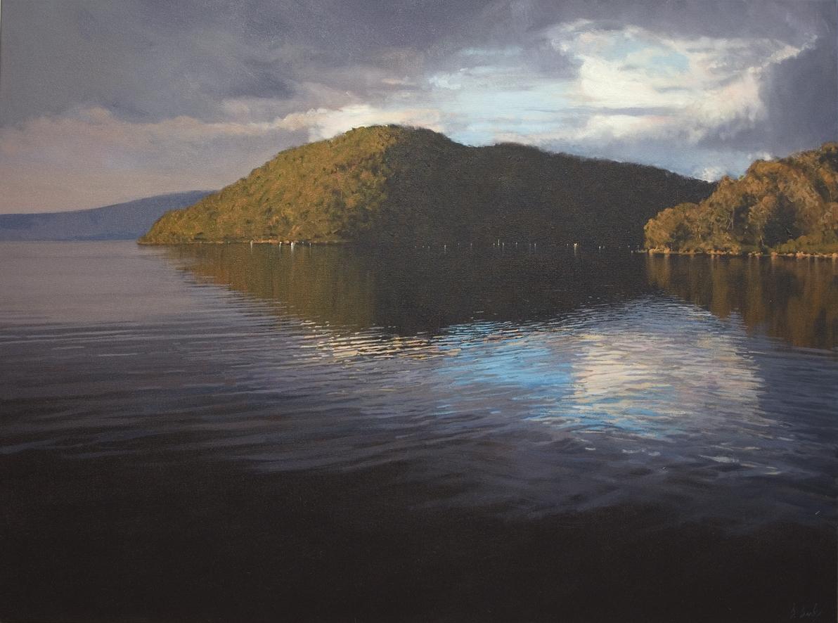 """Splash of Blue"" 100 x 135cm Oil on Canvas"