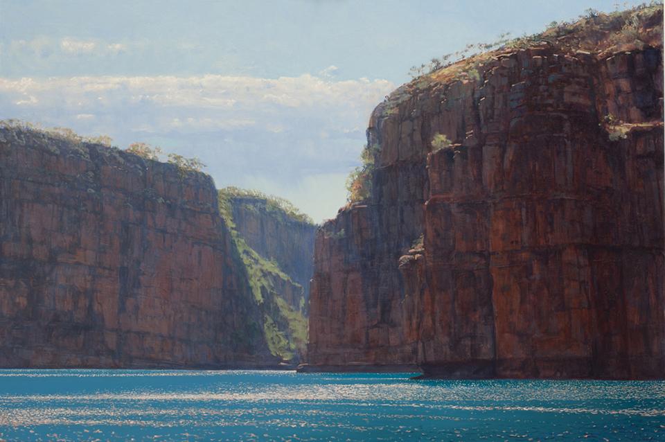 """""""The Gap"""" 100 x 150cm Oil on Acrylic on Canvas"""