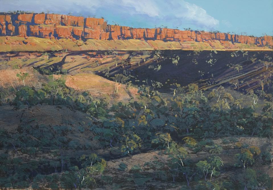 """The Ridge"" 66 x 97cm Mixed Media on Paper"