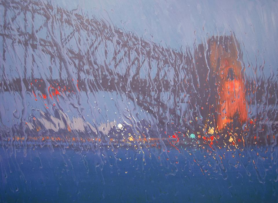 """Winter Bridge"" 110 x 150cm Oil on Canvas"