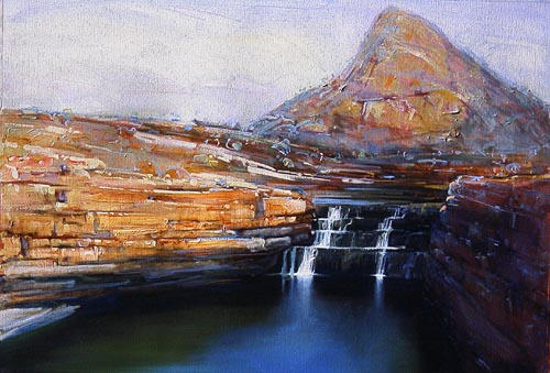 """""""Bell's Falls"""" 70 x 98cm Mixed Media on Paper"""