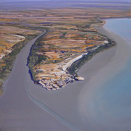 """Kimberley Coast 2"" 101 x 101cm Oil on Acrylic on Linen"