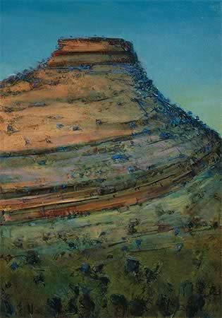 """""""Near Mt Bruce"""" 140 x 92cm Oil on Acrylic on Canvas"""