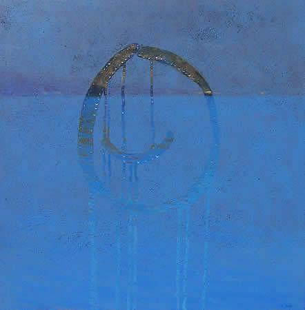 """""""Smiley"""" 84 x 84cm Oil on Acrylic on Canvas"""