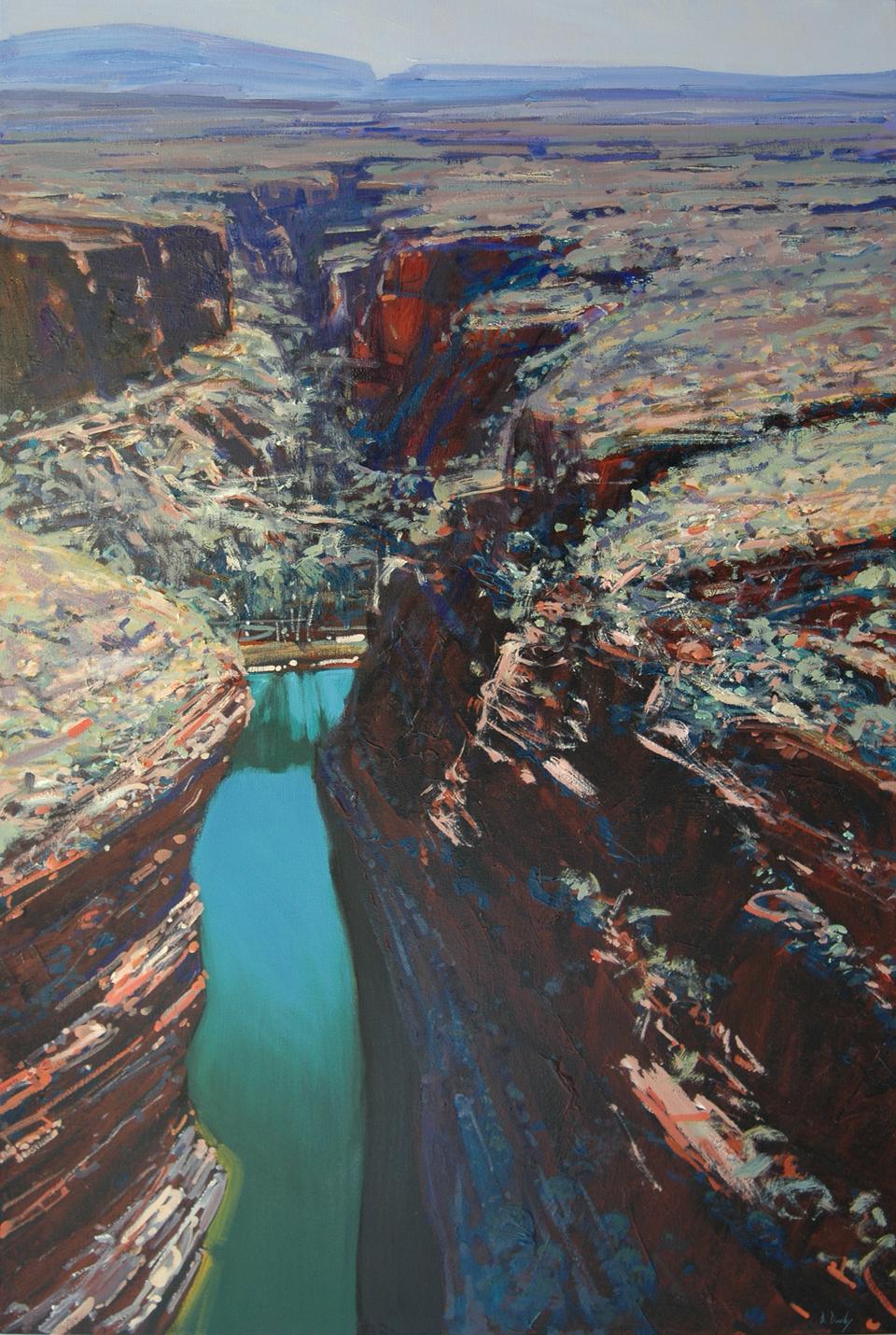 """""""Over Karijini"""" 180 x 120cm Oil on Acrylic on Canvas"""