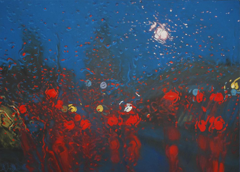 """Storm Party"" 51 x 71cm Oil on Canvas"