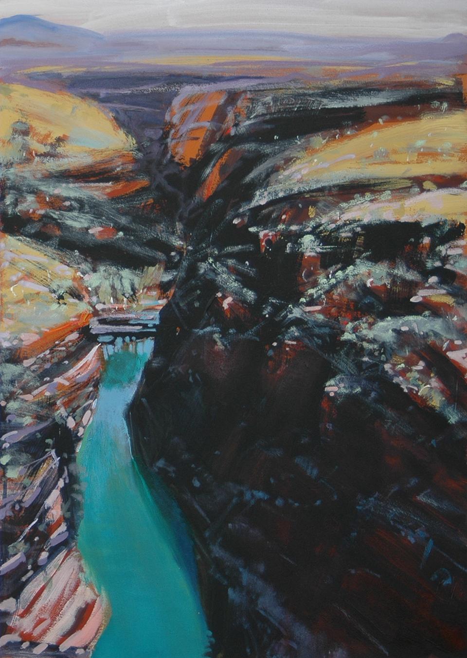 """Weano Gorge"" 67 x 47cm Mixed Media on Paper"