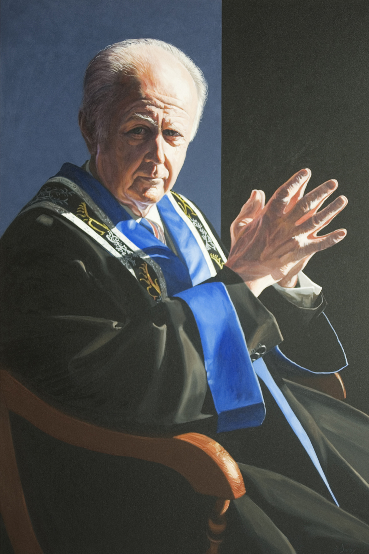 """Emeritus Professor Kerry Cox AO"" 150 x 100cm Oil on Canvas"