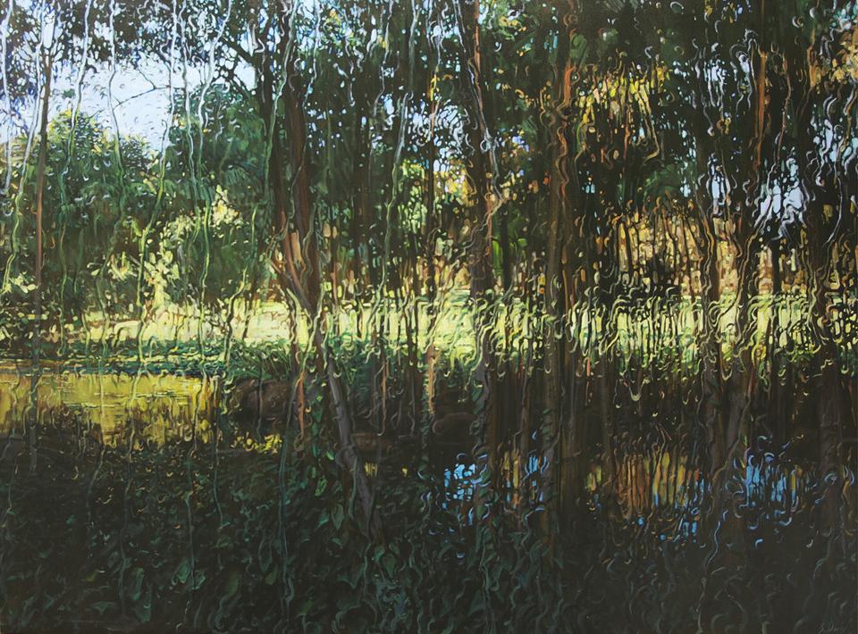 """""""Freddy's Creek"""" Oil on Canvas 110 x 150"""