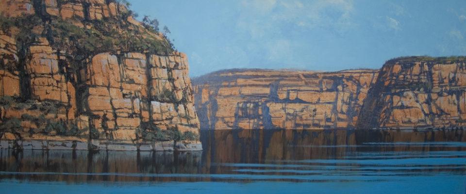 """Kimberley Windshift 2"" 48x122cm Oil on Acrylic on Board"