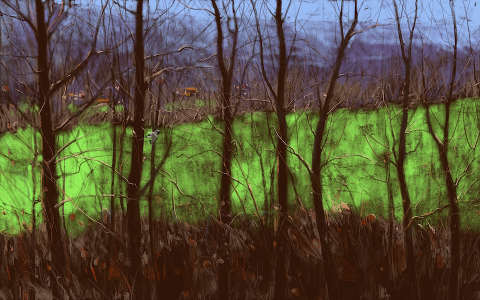 """""""Spring, Umbertide"""" 54x90cm (Image size) printed on Paper 70x100cm Digital Print with Mixed Media (Edition of 10)"""