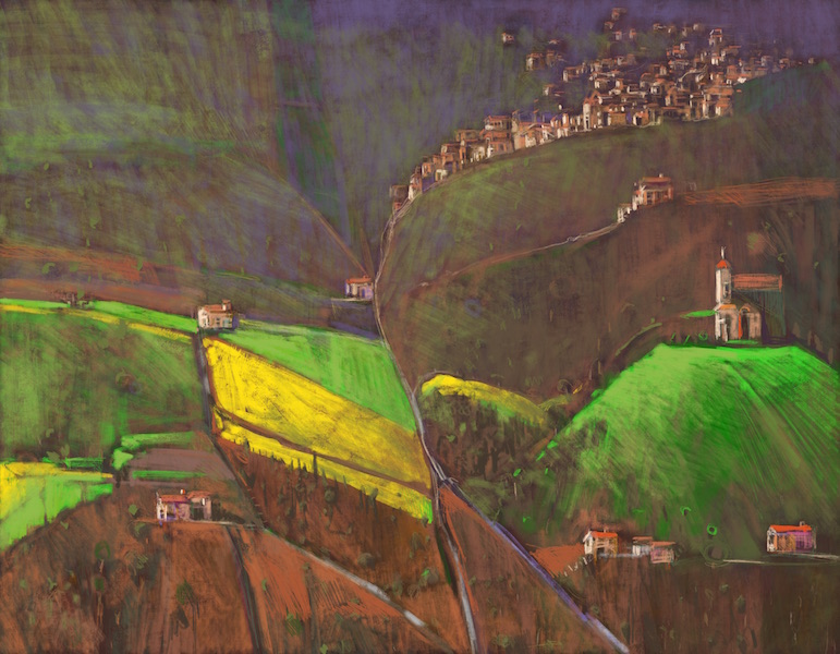 """Tuscany"" 56x72cm (Image size) printed on Paper 70x100cm Digital Print with Mixed Media (Edition of 10)"