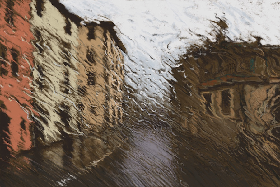 """""""Niccone, Umbria"""" 54x81cm (Image size) printed on Paper 70x100cm Digital Print with Mixed Media (Edition of 10)"""
