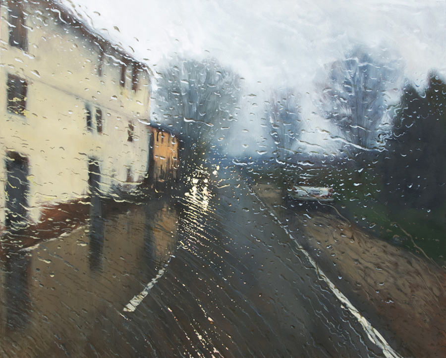 """DrivingRain"" Oil on Canvas 122 x 152cm"