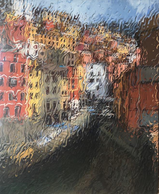 """Cinque Terre Sunshower"" Oil on Canvas 120 x 100cm"