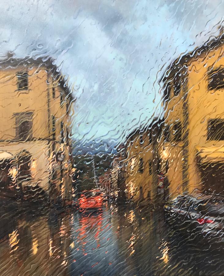 """Anghiari Fall - Via Matteotti"" Oil on Canvas 120 x 100cm"