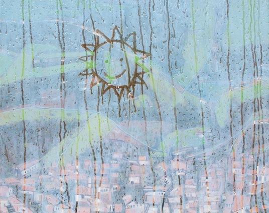 """""""Teary Sun"""" Oil on Canvas 122 x 152cm"""